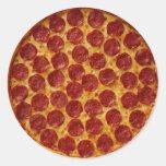 PIZZA DE SALCHICHONES PEGATINAS REDONDAS