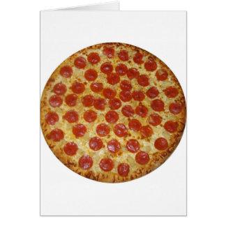 Pizza de salchichones tarjeta