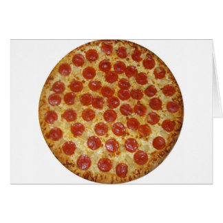 Pizza de salchichones tarjeta de felicitación