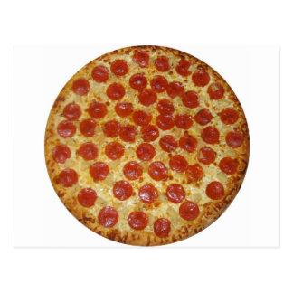Pizza de salchichones tarjetas postales