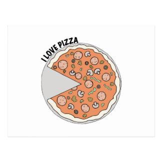 Pizza del amor postales