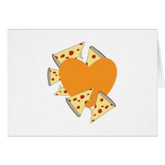 Pizza del corazón tarjetón