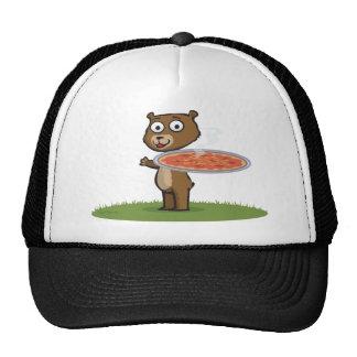 Pizza del oso de peluche gorros