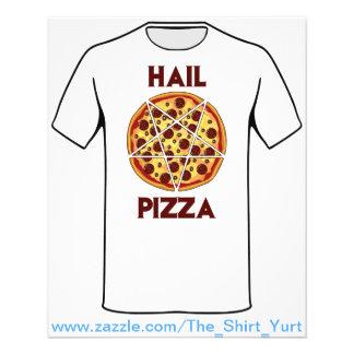 Pizza del saludo folleto 11,4 x 14,2 cm