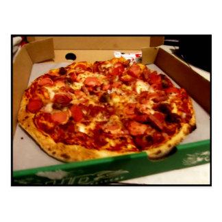 Pizza deliciosa tarjetas postales