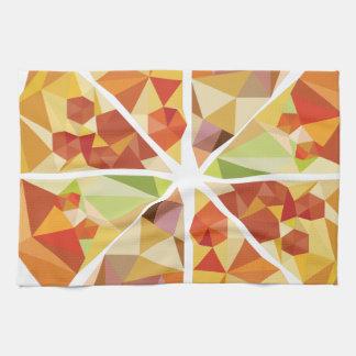 Pizza geométrica paño de cocina