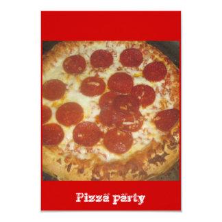 Pizza Invitación 8,9 X 12,7 Cm