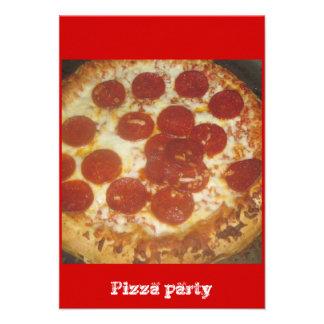 Pizza Invitaciones Personalizada