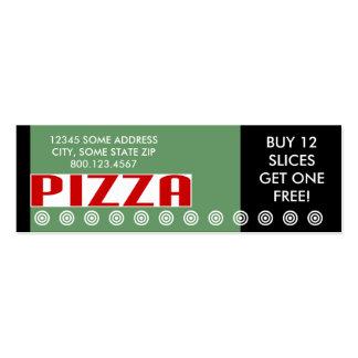 pizza (pequeña charla) plantilla de tarjeta personal
