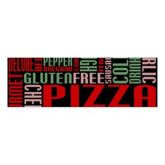 pizza (pequeña charla) tarjetas de visita mini