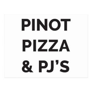 Pizza, Pinot e impresión divertida del vino del PJ Postal