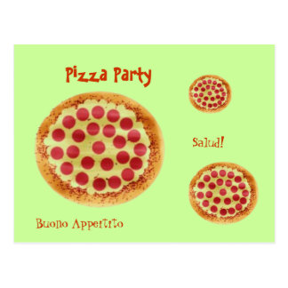 ¡pizza, pizza, pizza, fiesta de la pizza, Salud! , Postales