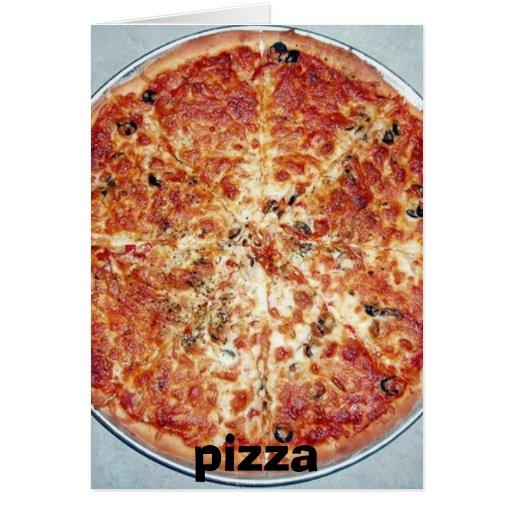 pizza, pizza tarjetón