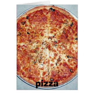 pizza, pizza tarjeta de felicitación