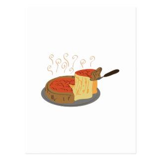 Pizza profunda del plato postal