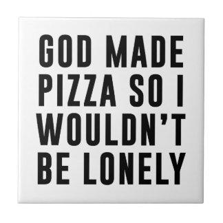 Pizza sola azulejo