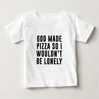 Pizza sola camiseta de bebé