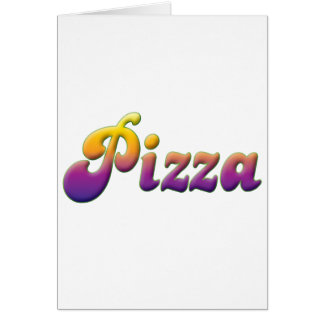 Pizza Tarjeta De Felicitación