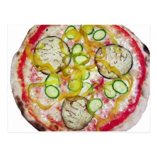 Pizza vegetariana deliciosa postal