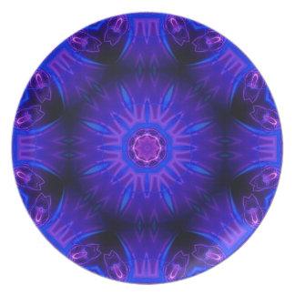 Placa abstracta azul de la melamina plato