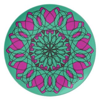 Placa adornada 2012-1 plato para fiesta