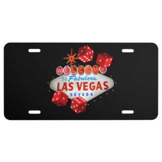 Placa afortunada del personalizado de Las Vegas