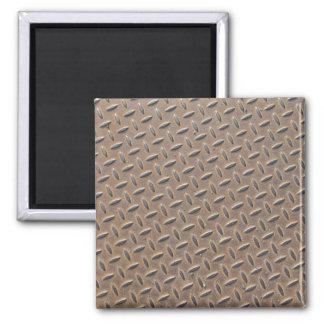 Placa aherrumbrada del inspector hecha del acero o iman para frigorífico