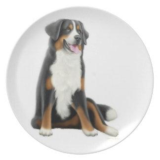 Placa amistosa del perro de montaña de Bernese Platos Para Fiestas