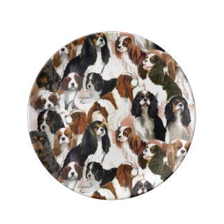 Placa arrogante de la porcelana del perro de aguas plato de cerámica