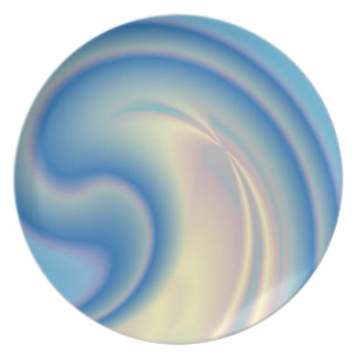 Placa azul de Melanine del remolino Plato Para Fiesta