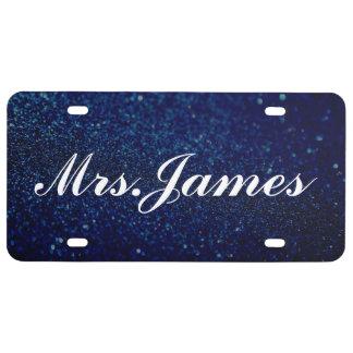 Placa - azul de señora Glitter III