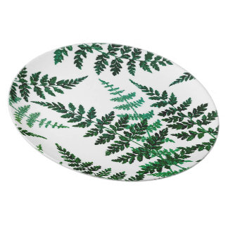Placa botánica de la melamina de la dicha platos