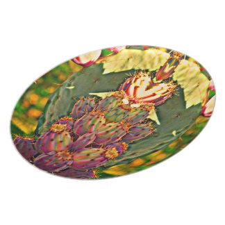 """Placa """"cactus de la melamina del higo chumbo en plato"""