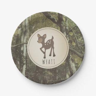 Placa Camo 2 de los ciervos de Wyatt Plato De Papel