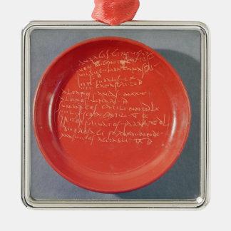 Placa con el texto céltico, 1ro-2do siglo adorno navideño cuadrado de metal