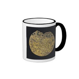 Placa con la frase tazas de café