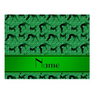 Placa de acero del diamante verde conocido que postal