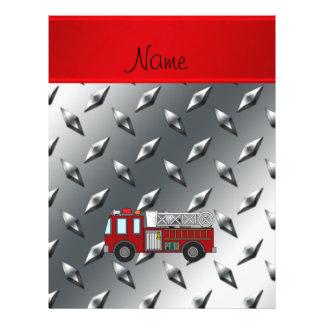 Placa de acero personalizada del diamante conocido folleto 21,6 x 28 cm