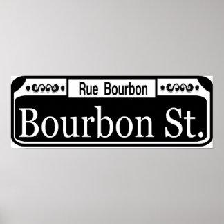 Placa de calle de Borbón Póster