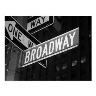 Placa de calle de Broadway Postal