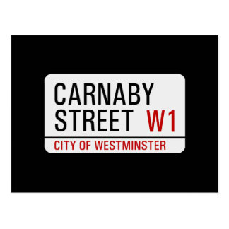 Placa de calle de Carnaby Postal