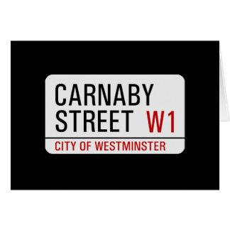 Placa de calle de Carnaby Tarjeta De Felicitación