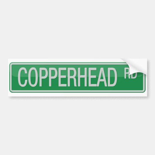 Placa de calle del camino de Copperhead Pegatina Para Coche