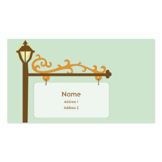 Placa de calle - negocio tarjetas de visita