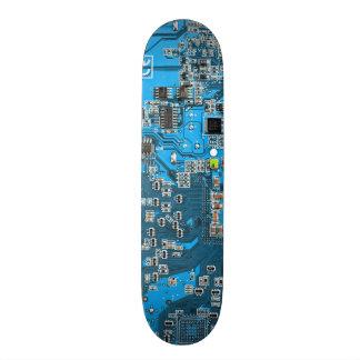 Placa de circuito del friki del ordenador - azul tabla de skate
