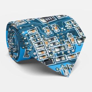 Placa de circuito del friki del ordenador del corbatas personalizadas