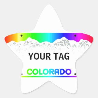 Placa de Colorado - edición colorida Pegatinas Forma De Estrella Personalizadas