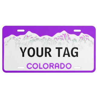 Placa de Colorado - edición púrpura