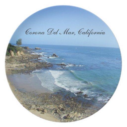 Placa de Corona del Mar California Platos Para Fiestas
