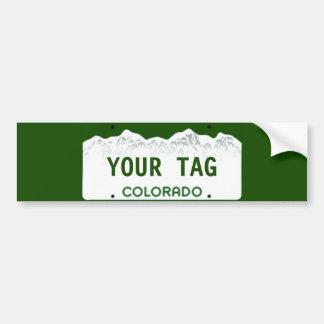 Placa de encargo de Colorado Pegatina Para Coche